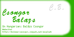 csongor balazs business card
